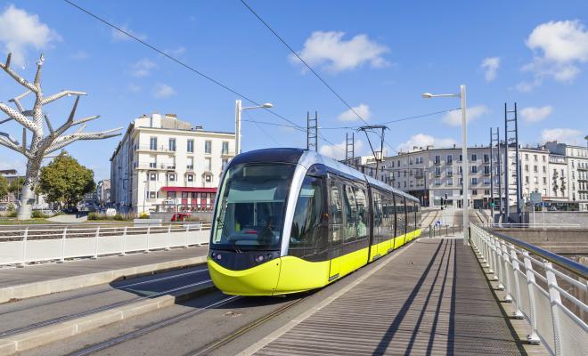 Le Tram au Centre-ville de Brest