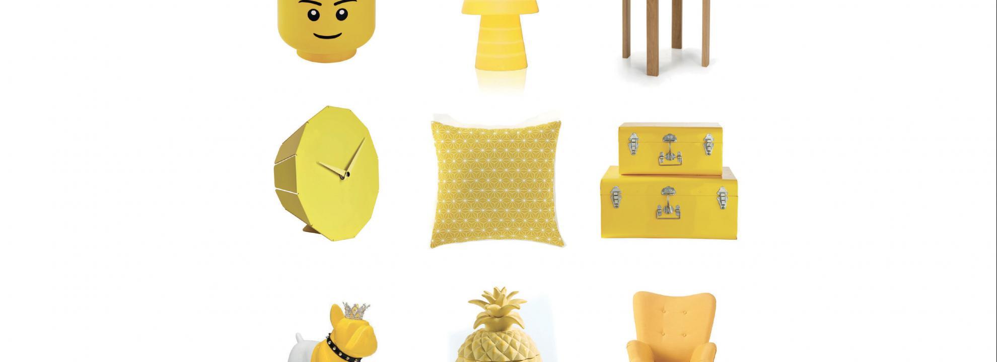 s lection objets deco jaunes. Black Bedroom Furniture Sets. Home Design Ideas