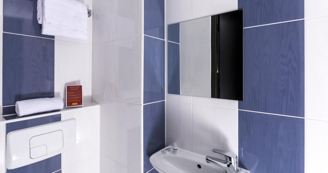 balladins saint-quentin / gauchy - salle de bains