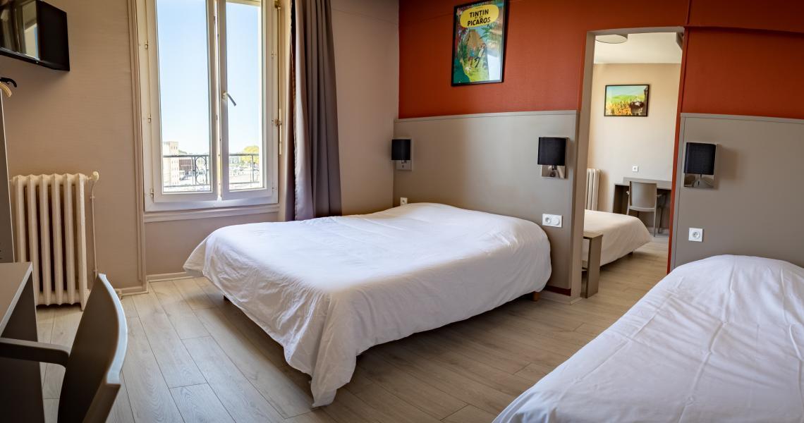 Hotel de la gare chateauroux - chambre familiale 3