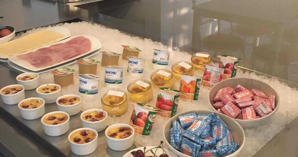 Buffet froid protocole sanitaire - initial by balladins Dieppe