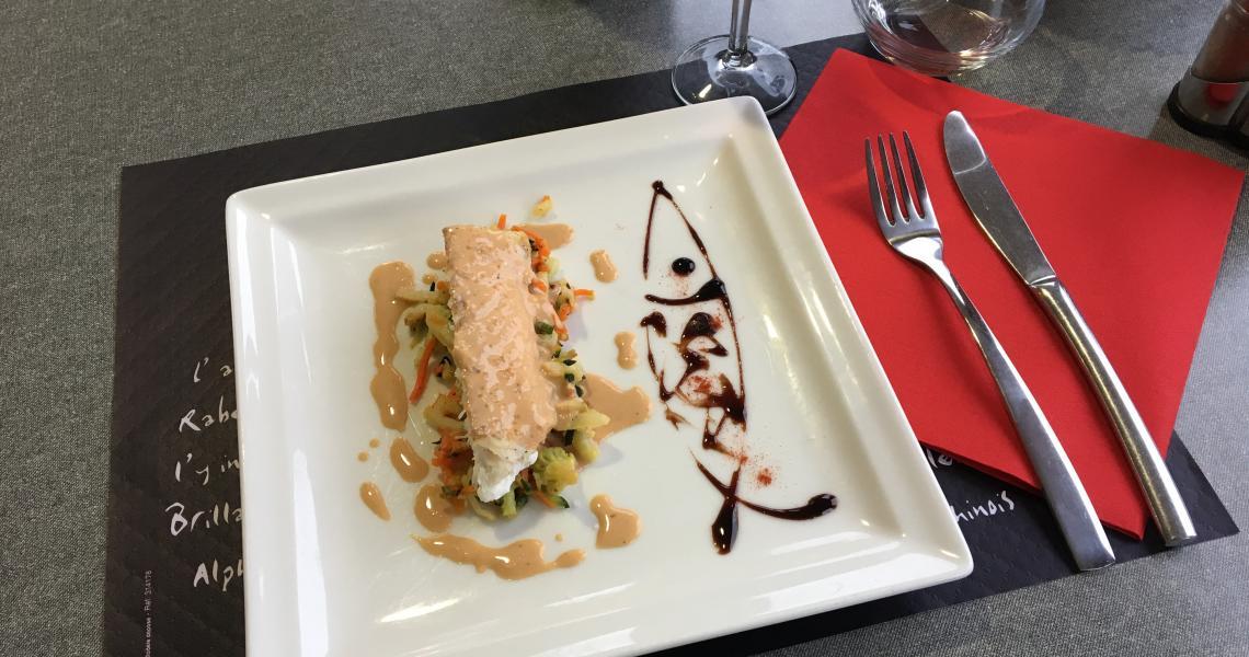 Restaurant - poisson - authentic by balladins - Dijon / Marsannay
