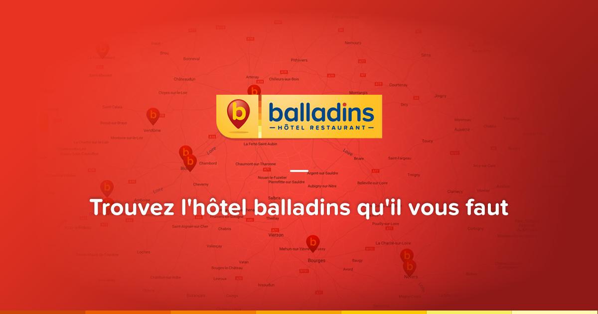 Balladins votre chaine d 39 h tels pas cher en france for Hotel de chaine
