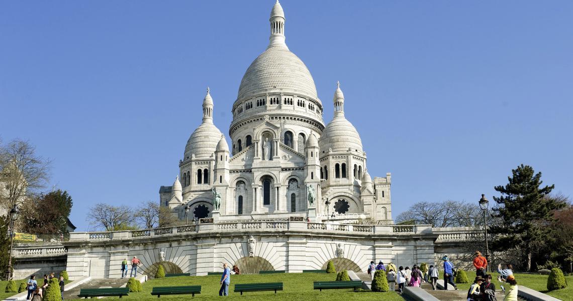 Le sacré Cœur sur la colline de Montmartre