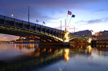 Le pont Lafayette sur le Rhône