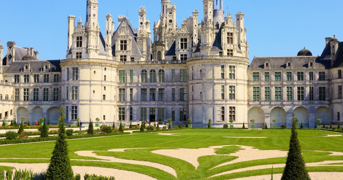 Jardins a la francaise Chambord - Crédit Ludovic Letot