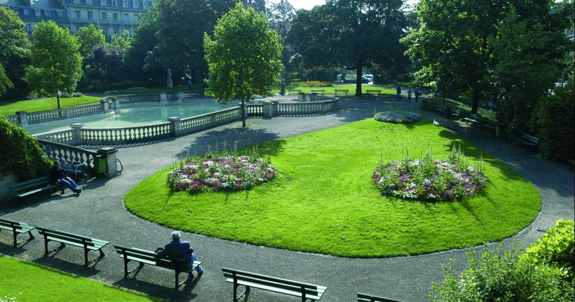 Jardin Darcy - Crédit photo : OT de Dijon - Atelier Demoulin