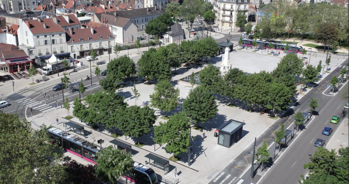 Place de la République -  Crédit photo : Ville de Dijon
