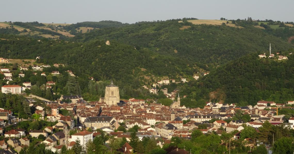 Bastide - Crédit photo : OT Villefranche-de-Rouergue