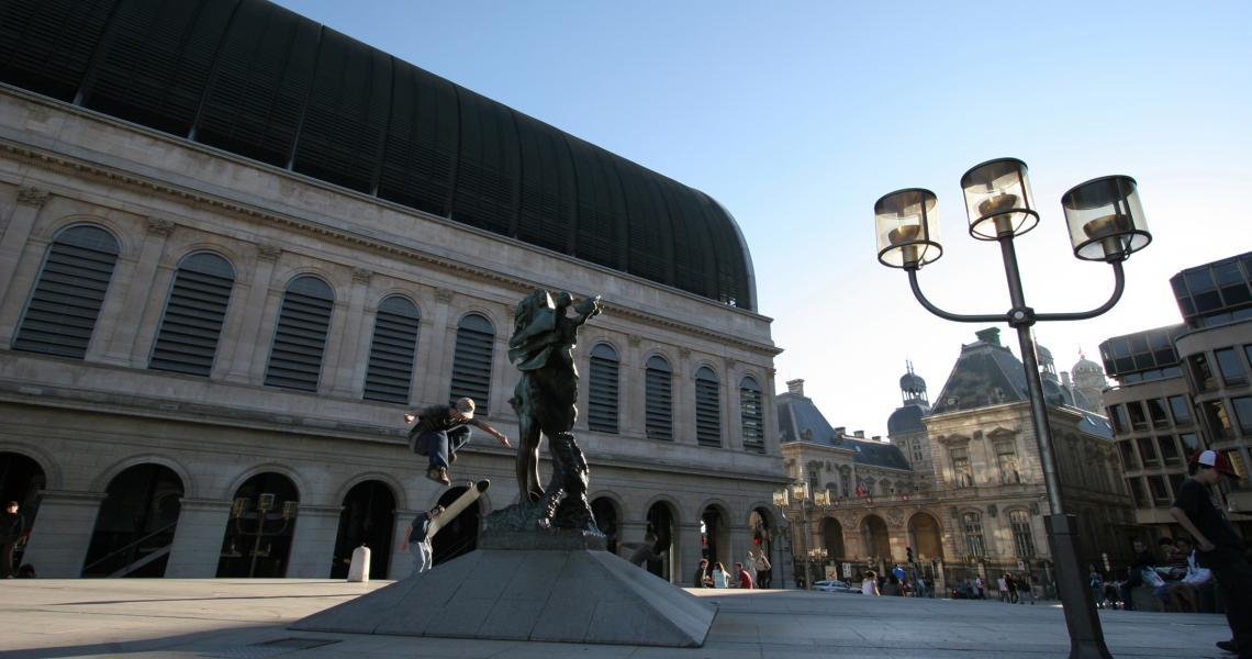 Depuis la Place Louis Pradel