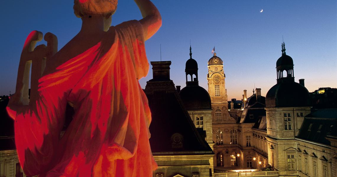 Lyon durant la Fête des Lumières