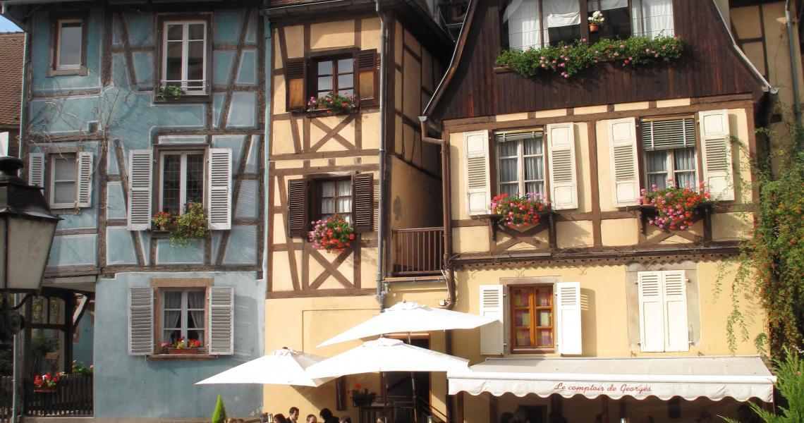 Les célèbres maisons à colombages alsaciennes
