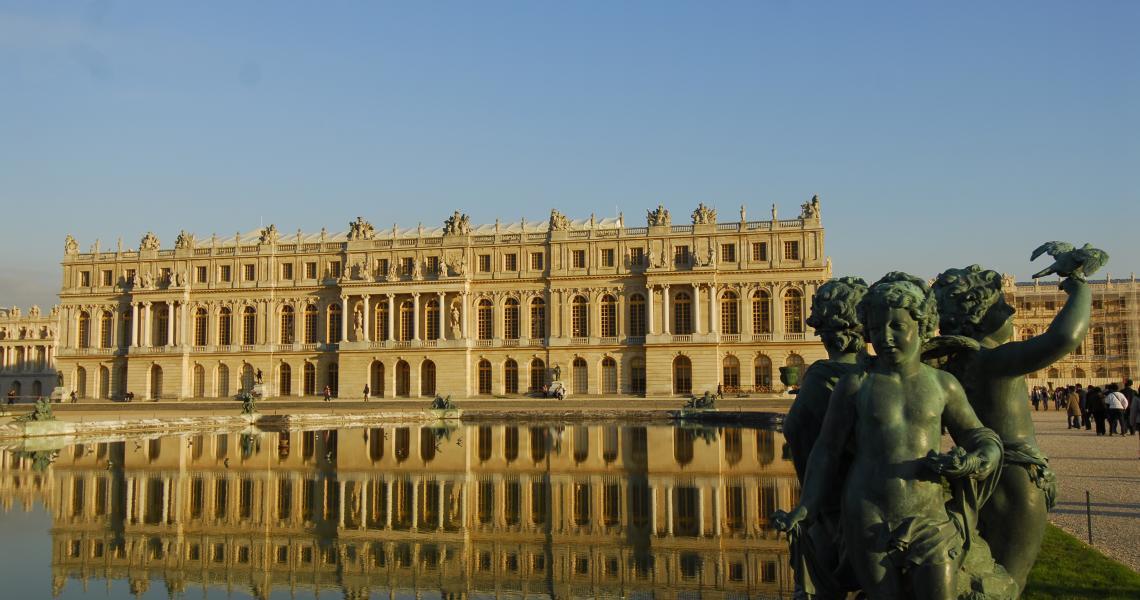 Les miroirs d'eau du chateau de versailles