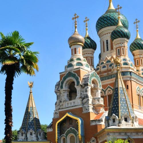 Visite de Nice et de sa cathédrale orthodoxe russe