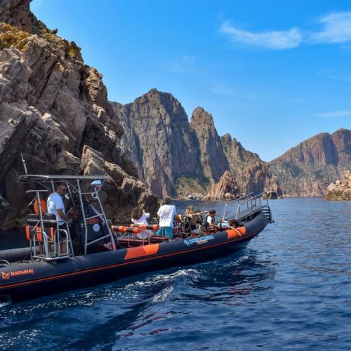 Visite en bateau de Scandola, Girolata et des calanques de Piana